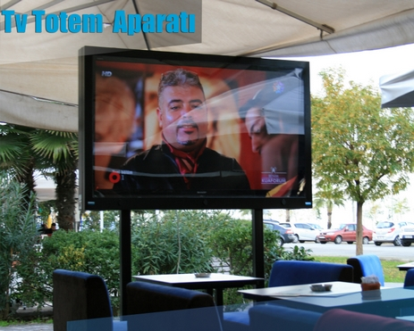 Outdoor Tv Totem Ayak Aparatı